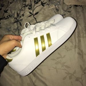 white gold adidas shoes